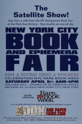 New York City Book and Ephemera Fair!