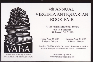 Virginia Antiquarian Book Fair!