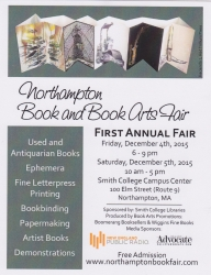 Northampton Book and Book Arts Fair!