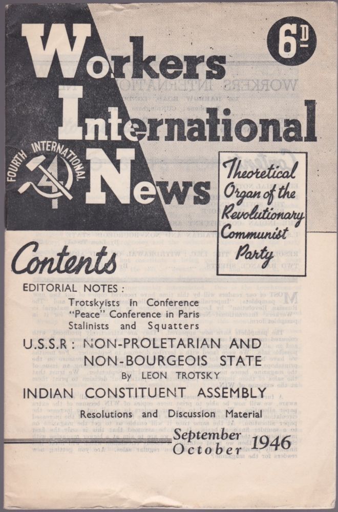 Workers International News, Vol. 6, No. 9 (September-October 1946). Harold Atkinson.