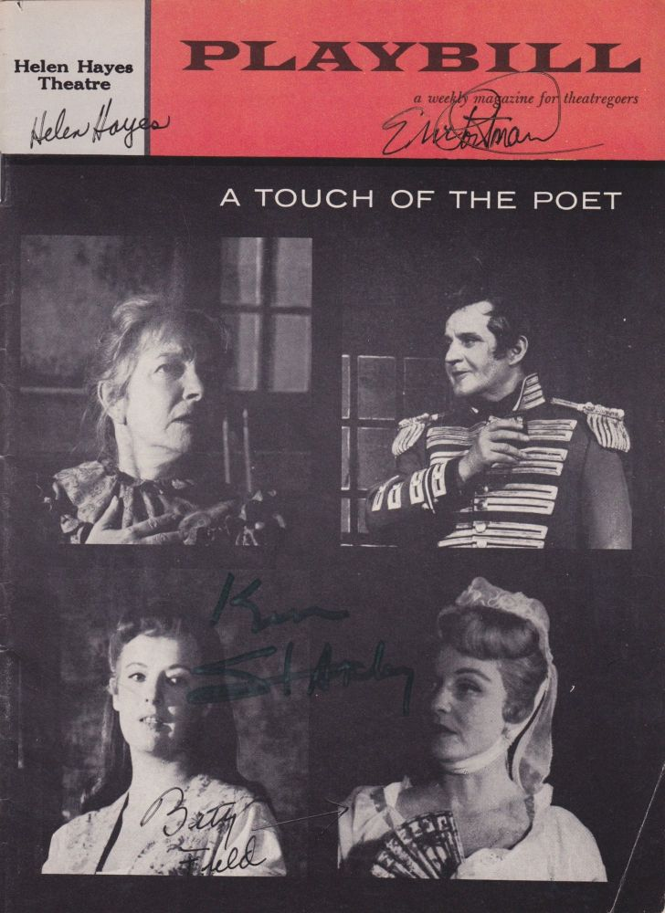 Playbill: A Touch of the Poet [Wrapper title]. Eugene O'Neill.