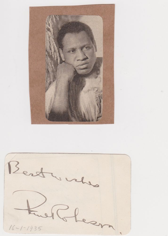 [Autograph and Five Publications]. Paul Robeson.