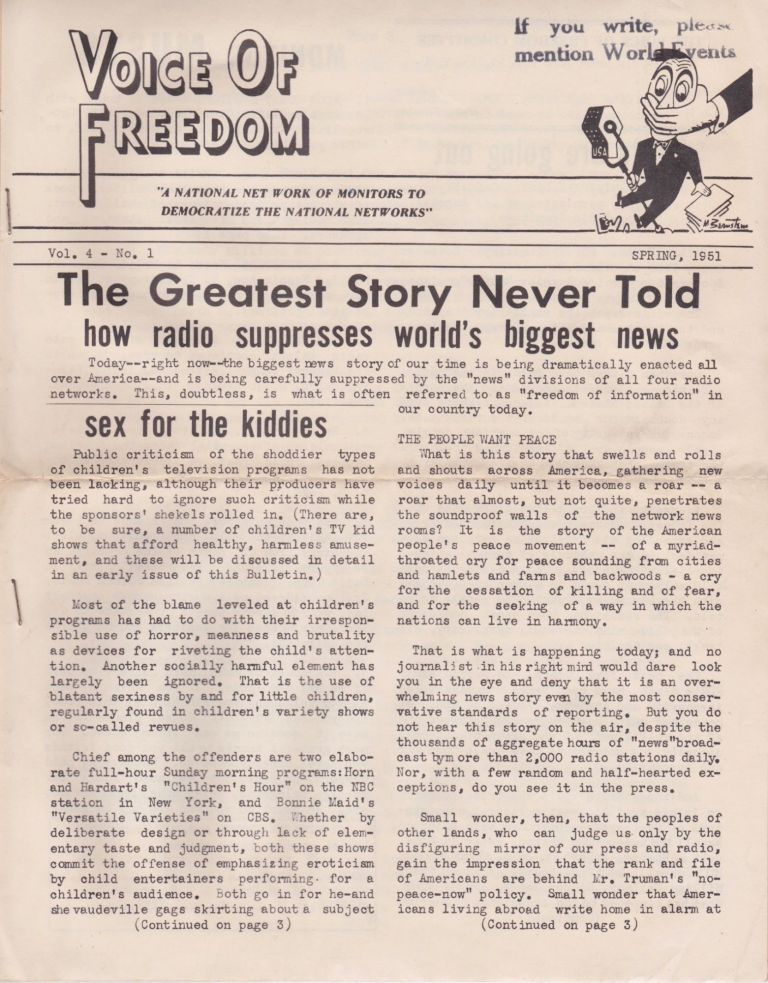 Voice of Freedom: The Greatest Story Never Told: How Radio Suppresses World's Biggest News. Radicalism.