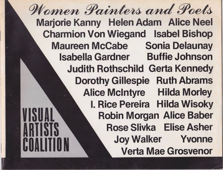 Women Painters and Poets. Visual Artists Coalition Inc.