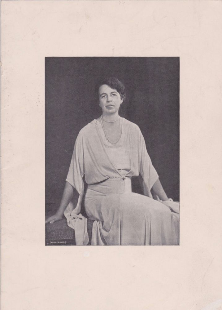 Program of the Seventy-Three Club Banquet in Honor of Mrs. Franklin Delano Roosevelt. Eleanor Roosevelt.