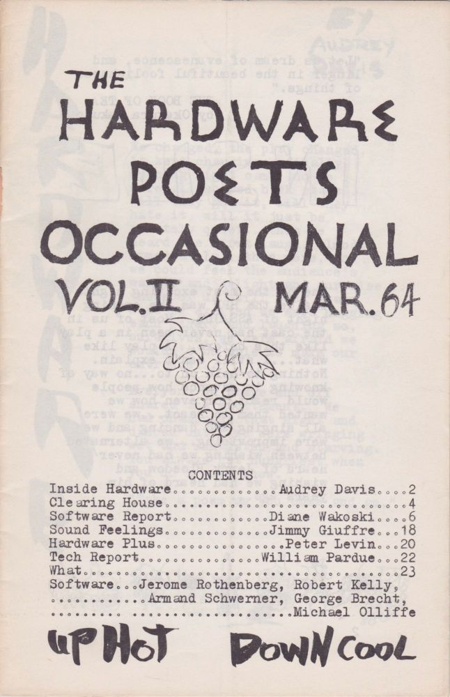 The Hardware Poets Occasional [Vol. II, March 1964]. Jerry Bloedow, Diane Wakoski.