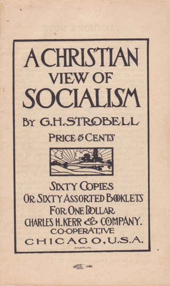A Christian View of Socialism. G. H. Strobell.