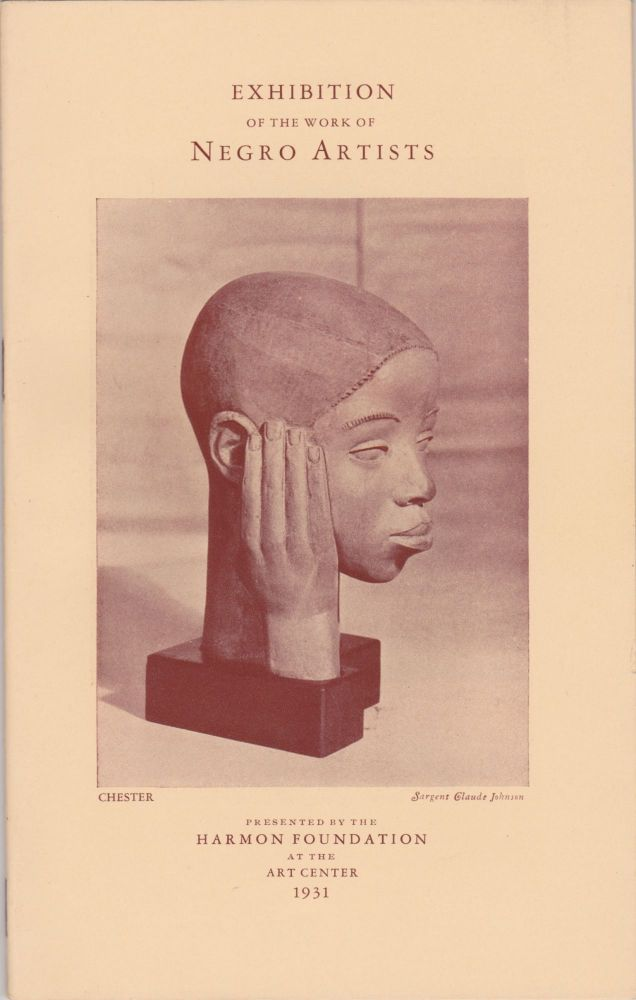 The Harmon Foundation Presents an Exhibition of the Works of Negro Artists at the Art Center, 65 East 56th Street, New York, N.Y. Art, African-American.