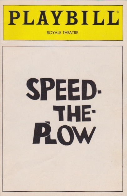 Speed-the-Plow. David Mamet.