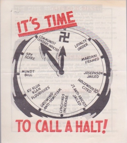 It's Time to Call a Halt! Civil Rights Congress.