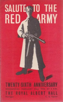 Salute to the Red Army. Royal Albert Hall.