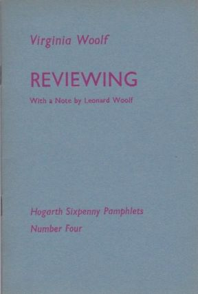 Reviewing. Virginia Woolf.