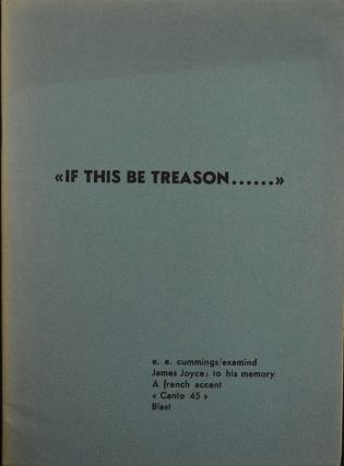If This Be Treason. Ezra Pound.