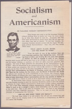 Socialism and Americanism. Socialist Party of America.