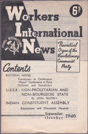 Workers International News, Vol. 6, No. 9 (September-October 1946). Harold Atkinson