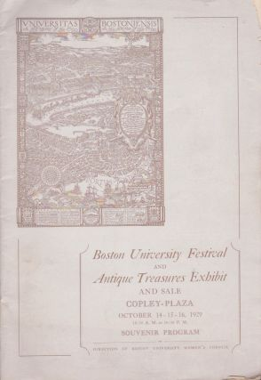 Boston University Festival and Antique Treasures Exhibit and Sale, Copley-Plaza, October...