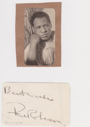 Autograph and Five Publications]. Paul Robeson
