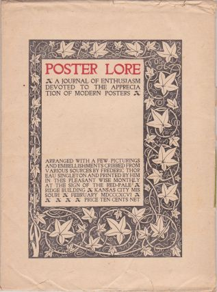 Poster Lore: A Journal of Enthusiasm Devoted to the Appreciation of Modern Posters [February...