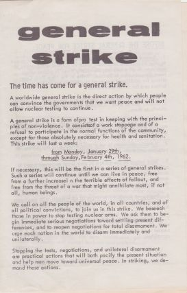 Collection of Ephemera on the General Strike for Peace. General Strike for Peace, Jackson Mac Low