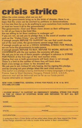 Collection of Ephemera on the General Strike for Peace