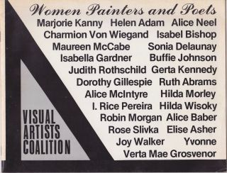 Women Painters and Poets. Visual Artists Coalition Inc