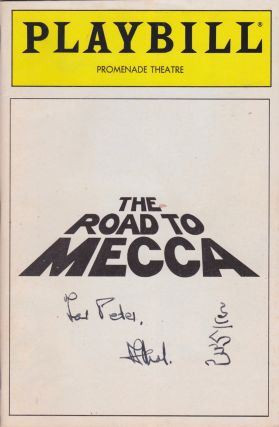 The Road to Mecca [Playbill, Vol. 88, No. 4]. Athol Fugard