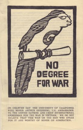 No Degree for War. Vietnam, Peace/Rights Organizing Committee