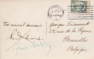 A Postcard Signed by Both Surrealists. Paul Éluard, André Breton