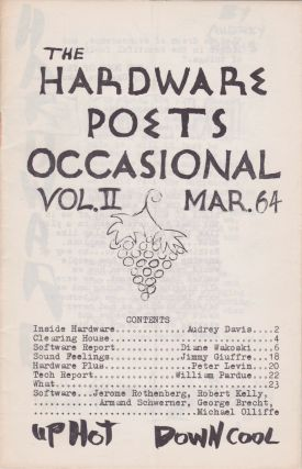 The Hardware Poets Occasional [Vol. II, March 1964]. Jerry Bloedow, Diane Wakoski