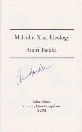 Malcolm X as Ideology