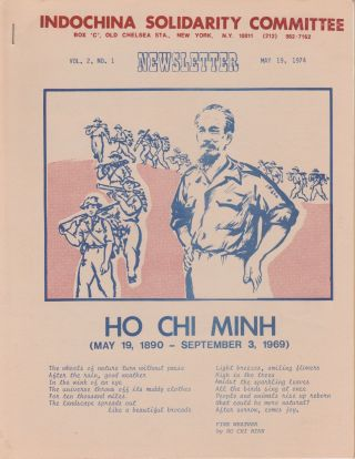 Newsletter, Vol. 2, No. 1 (May 19, 1974). Indochina Solidarity Committee