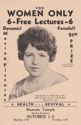 For Women Only: 6 Free Lectures. Hazel P. Rogalsky