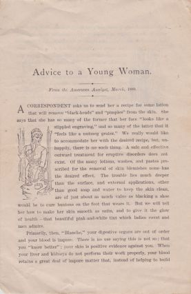 Advice to a Young Woman. Dr. J. C. Ayer, Co