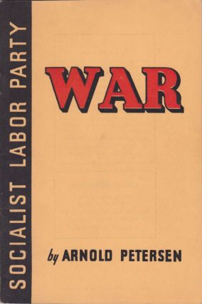 War. Arnold Petersen