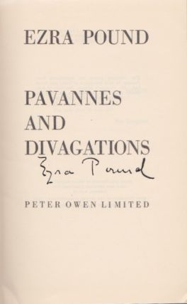 Pavannes and Divagations